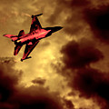 An F-16 Flies Through Hell by Chris Lord
