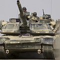 An M1a1 Abrams Tank Heading by Stocktrek Images