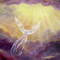 Angel In Mauve Clouds by Laura Iverson