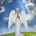 Angel Releasing A Dove by Jill Battaglia
