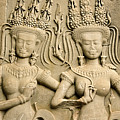 Angkor Wat Relief by Michele Burgess