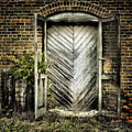 Antique Store Door by Sari Sauls