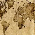 Antique World Map by Radu Aldea