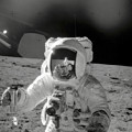 Apollo 12 Moonwalk by Stocktrek Images