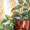 Apples And Plant by Melissa Wiater Chaney