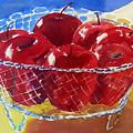 Apples In Wirebasket by Doranne Alden