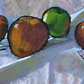 Apples On Cloth by Robert Bissett