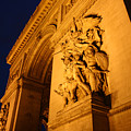 Arc De Triomphe At Night by Jennifer McDuffie
