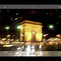 Arc De Triomphe By Bus Tour Greeting Card Poster V1 by Felipe Adan Lerma