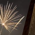 Arch With Fireworks by David Coblitz