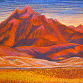 Arizona Mountains At Sunset by Art Nomad Sandra  Hansen