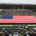 Army An American Flag Spans Michie Stadium by Associated Press