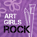 Art Girls Rock by Linda Woods