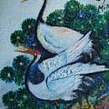 Asian Cranes 1 by Min Wang