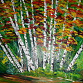 Aspen Grove In October by Terry Lash
