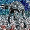 At-at Bottle Cap Mosaic by Paul Van Scott