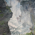 Athabasca Falls Alberta by Debbie Homewood