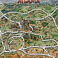 Atlanta Cartoon Map by Kevin Middleton
