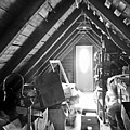 Attic Space Bw by Francesa Miller