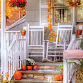 Autumn - House - My Aunts Porch by Mike Savad