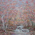 Autumn Birch Trees. by Leonard Holland