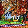 Autumn Farmhouse by Laura Heggestad