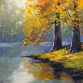 Autumn Lake Print by Graham Gercken