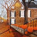 Autumn Stone House by Rich Fotia