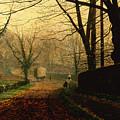 Autumn Sunshine Stapleton Parknear Pontefract  by John Atkinson Grimshaw
