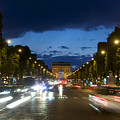 Avenue Des Champs Elysees. Paris by Bernard Jaubert