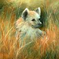 Baby Hyena by Sally Seago