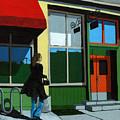 Back Street Grill - Urban Art by Linda Apple