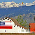 Balloon Barn And Mountains by Scott Mahon