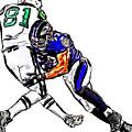 Baltimore Ravens  Ray Lewis - New York Jets Dustin Keller by Jack K