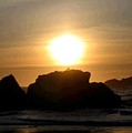 Bandon Beach Silhouette by Will Borden