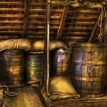 Bar - Wine Barrels by Mike Savad