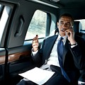 Barack Obama Talks To A Member by Everett