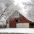 Barn Fog And Hoarfrost by Fred Lassmann