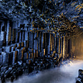 Basalt Pillars Line Fingals Cave by Jim Richardson