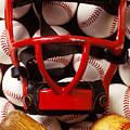 Baseball Catchers Mask And Balls by Garry Gay