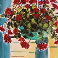 Basket Of Geraniums by John Williams