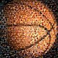 Basketball Mosaic by Paul Van Scott