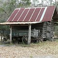 Battered Barn And Weathered Wagon by Al Powell Photography USA
