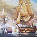 Battle Of Trafalger by Perrys Fine Art