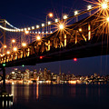 Bay Bridge In Front Of San Francisco Skyline by Blue Hour Photography