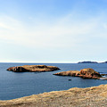 Beach And Rocky Shoreline by Barbara Griffin