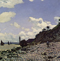 Beach At Honfleur by Claude Monet