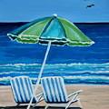 Beach Chair Bliss by Elizabeth Robinette Tyndall