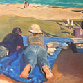 Beach Picnic by Merle Keller