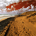 Beach Under A Blood Red Sky by Rob Hawkins